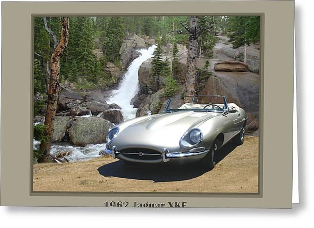 1962 Jaguar Xke Greeting Card