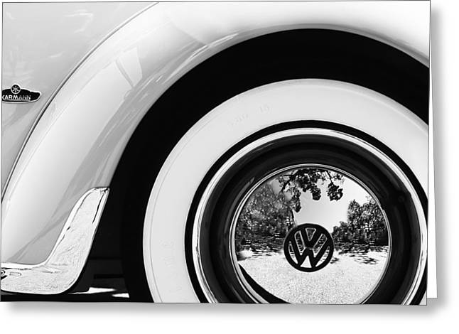 1962 Volkswagen Vw Beetle Cabriolet Wheel Emblem Greeting Card by Jill Reger