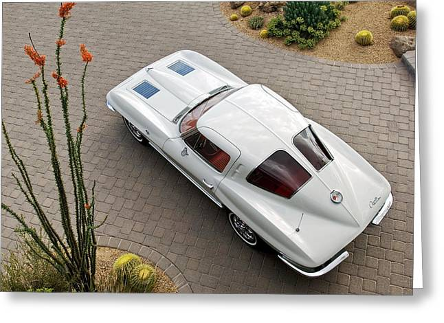 Greeting Card featuring the photograph 1963 Chevrolet Corvette Split Window -440c by Jill Reger