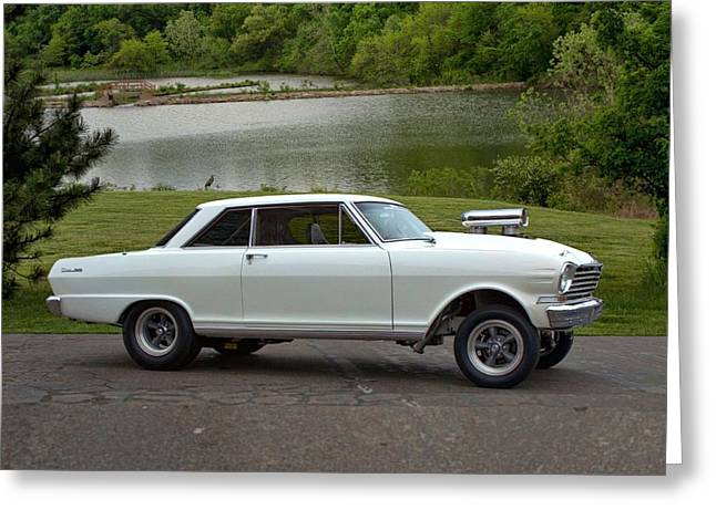 Greeting Card featuring the photograph 1963 Chevy II Pro Street Dragster by Tim McCullough