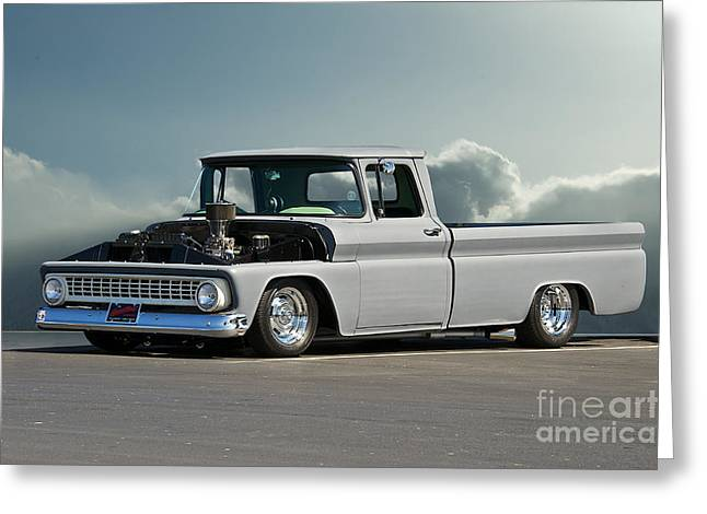 1963 Chevy 'low Rider' Pick-up Truck Greeting Card by Dave Koontz