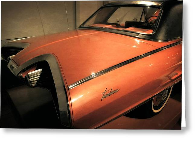 1963 Chrysler Turbine Greeting Card by Michelle Calkins