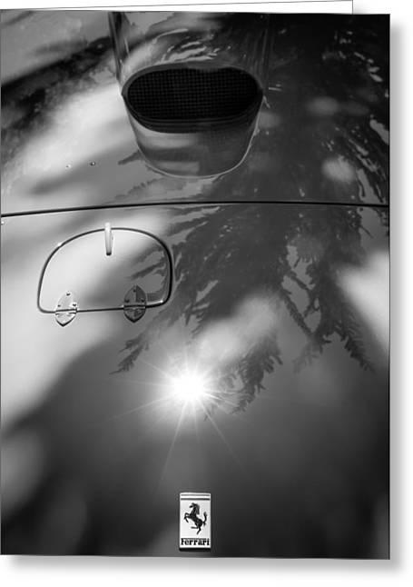 1963 Ferrari 250 Gt Swb Hood Emblem Greeting Card by Jill Reger