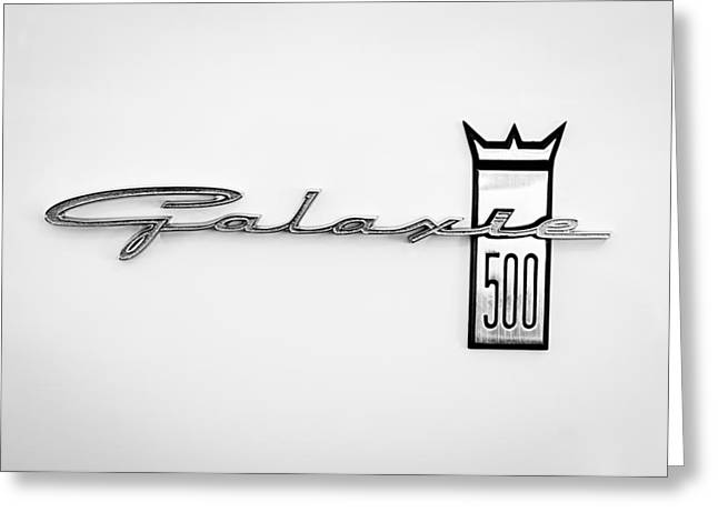 1963 Ford Galaxie 500 R-code Factory Lightweight Emblem Greeting Card by Jill Reger