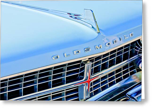 1963 Oldsmobile Starfire Grille Emblem Greeting Card by Jill Reger