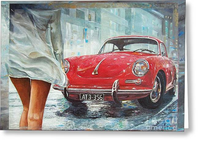 1963 Porsche 356 C Greeting Card
