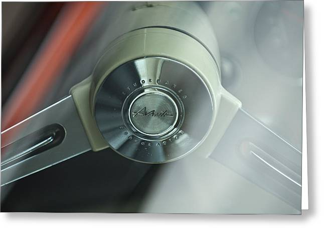 1963 Studebaker Avanti Steering Wheel Greeting Card