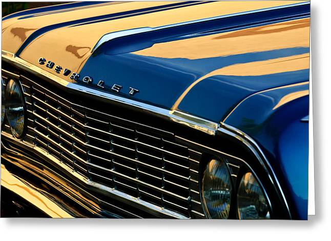 1964 Chevrolet Chevelle Grille Greeting Card by Jill Reger