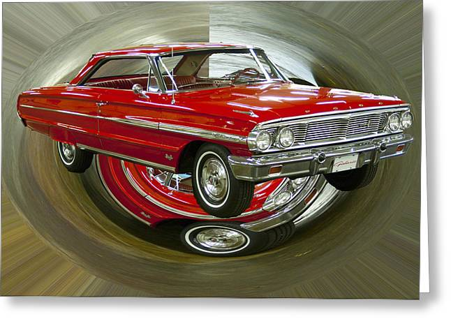 Greeting Card featuring the photograph 1964 Ford Galaxie by B Wayne Mullins