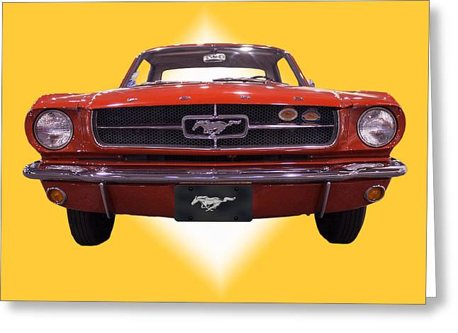 1964 Ford Mustang Greeting Card by Michael Porchik