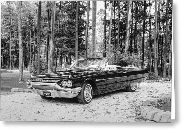 1964 Ford Thunderbird  Waterloo Greeting Card by David Chapman