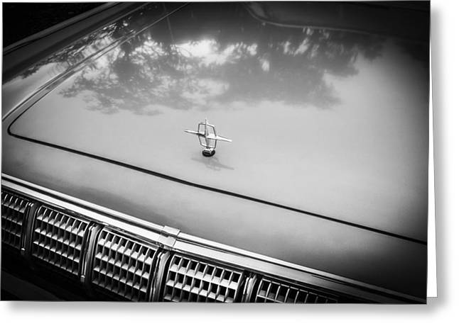 1964 Lincoln Continental Convertible Bw    Greeting Card by Rich Franco