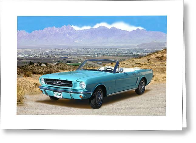 1964 Mustang Convertible Greeting Card by Jack Pumphrey