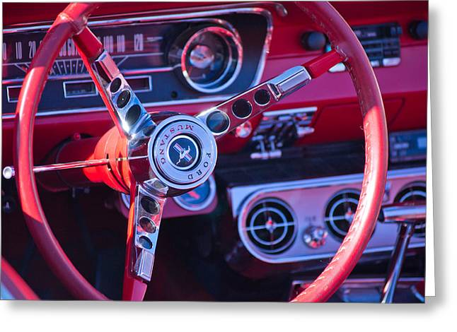 1964 Mustang Interior Greeting Card