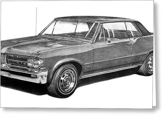 1964 Pontiac Gto Coupe Greeting Card by Nick Toth
