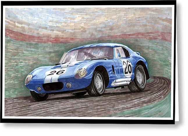1964 Shelby Daytona Greeting Card by Jack Pumphrey