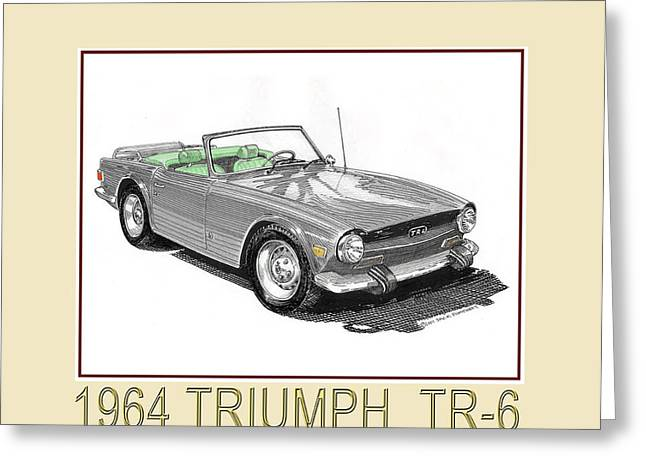 1964 Triumph T R 6 Greeting Card by Jack Pumphrey