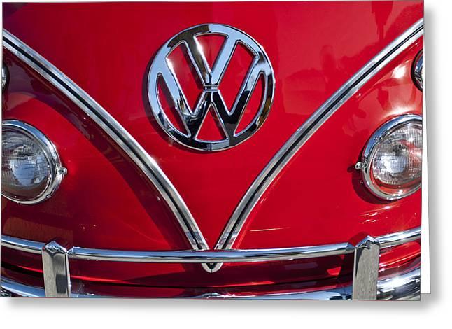 1964 Volkswagen Vw Double Cab Emblem Greeting Card