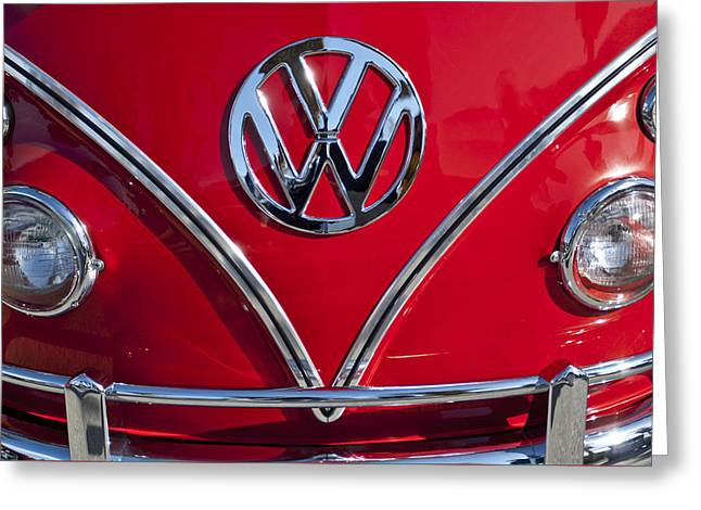 1964 Volkswagen Vw Double Cab Emblem Greeting Card by Jill Reger