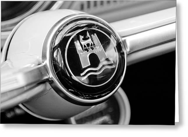 1964 Volkswagen Vw Steering Wheel Emblem Greeting Card by Jill Reger