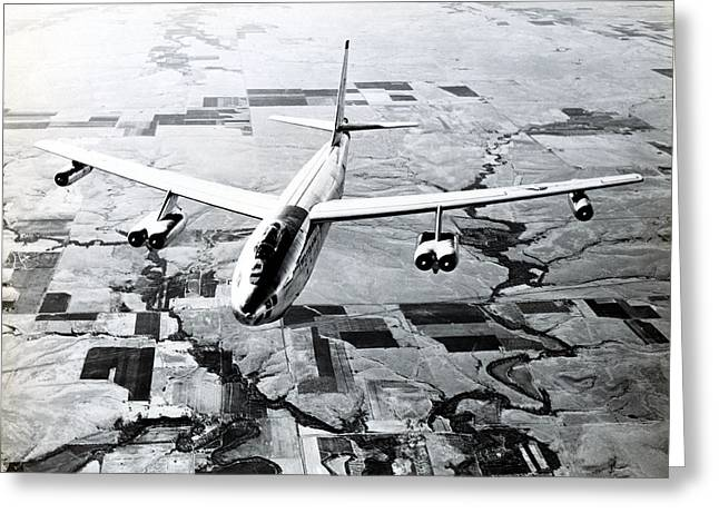 1965 Air Force B-47 In Flight Greeting Card by Historic Image