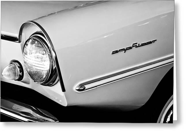 1965 Amphicar 770 Convertible Headlight Emblem Greeting Card by Jill Reger