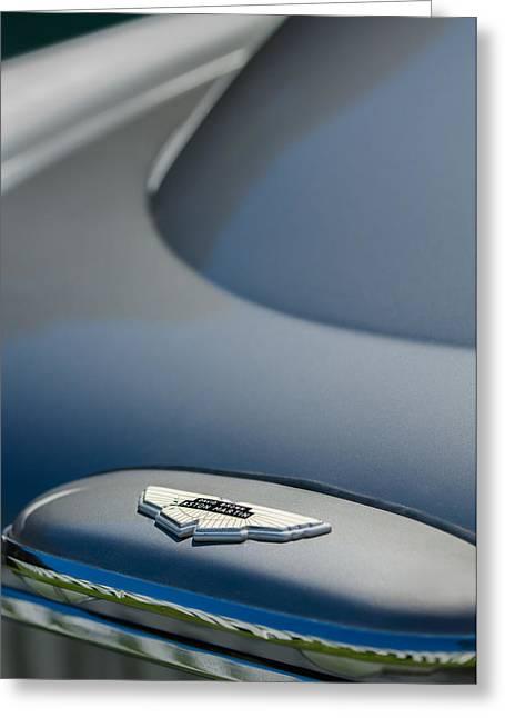1965 Aston Martin Db5 Sports Saloon Emblem Greeting Card