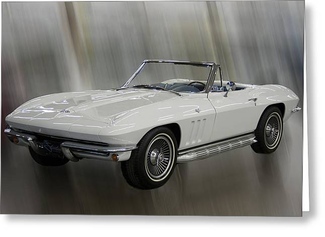 Greeting Card featuring the photograph 1965 Chevy Corvette by B Wayne Mullins