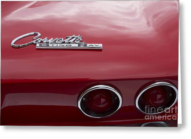 1965 Corvette Greeting Card by Steven Parker
