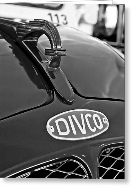 1965 Divco Milk Truck Hood Ornament 3 Greeting Card by Jill Reger