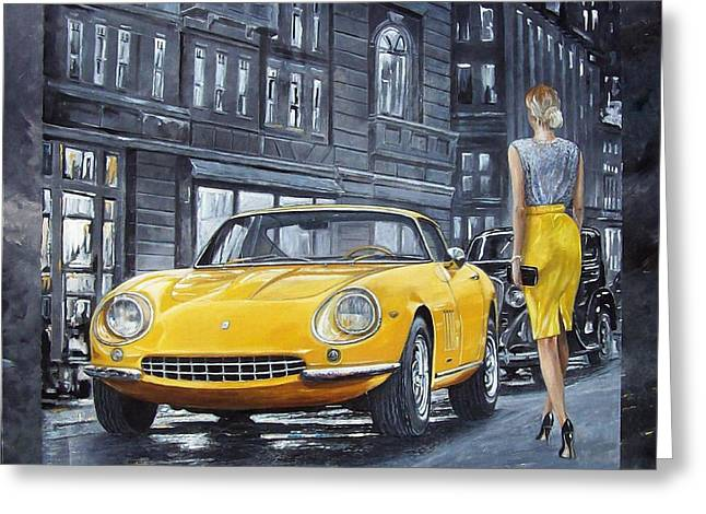 1965 Ferrari 275 Gtb Greeting Card