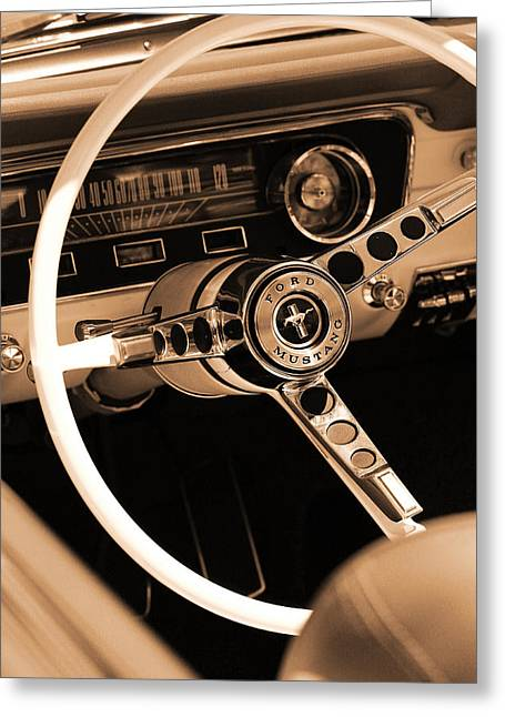 1965 Ford Mustang  Greeting Card by Gordon Dean II