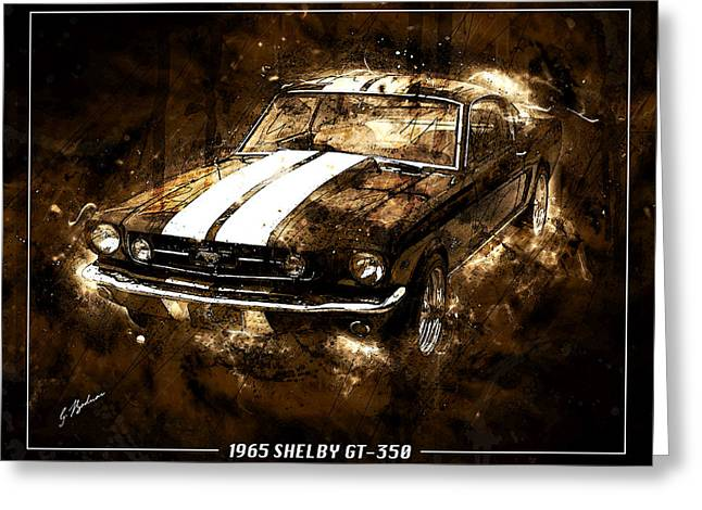 1965 Ford Shelby Mustang Gto-350 #5 Greeting Card