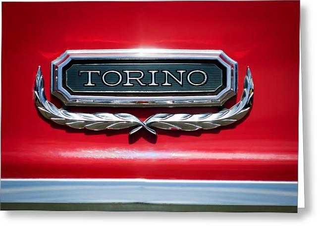 1965 Ford Torino Emblem Greeting Card