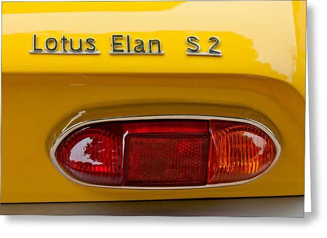 1965 Lotus Elan S2 Taillight Emblem Greeting Card by Jill Reger