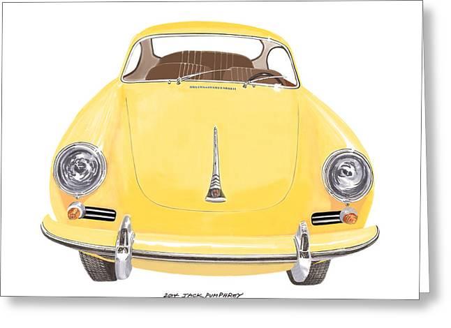Porsche 356 A Greeting Card