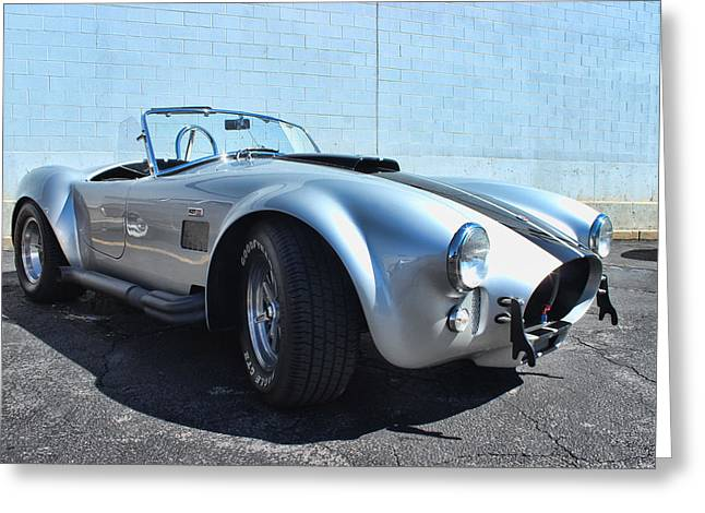 1965 Shelby Cobra Greeting Card by Becca Buecher
