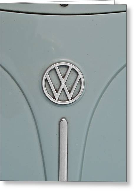 1965 Volkswagen Beetle Hood Emblem Greeting Card