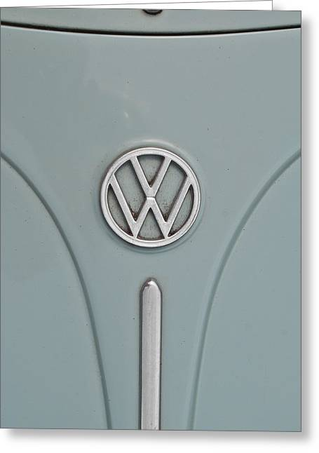 1965 Volkswagen Beetle Hood Emblem Greeting Card