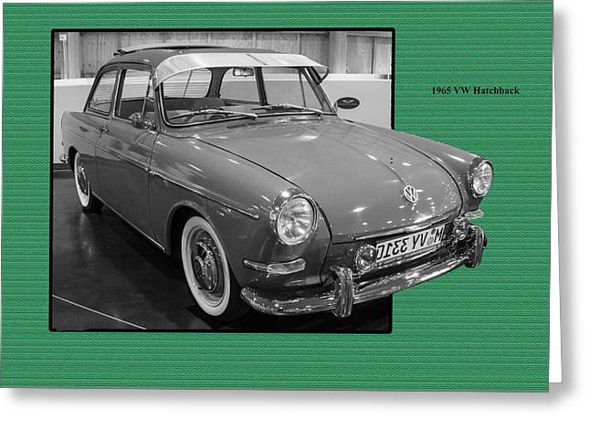 1965 Vw Notchback Greeting Card