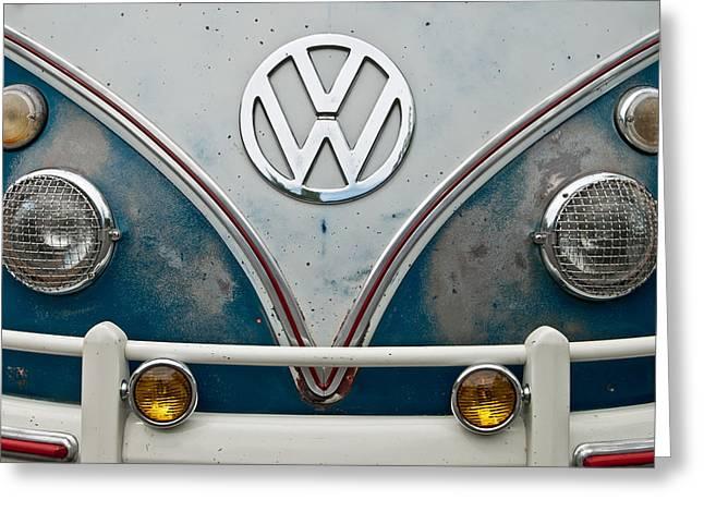 1965 Vw Volkswagen Bus Greeting Card