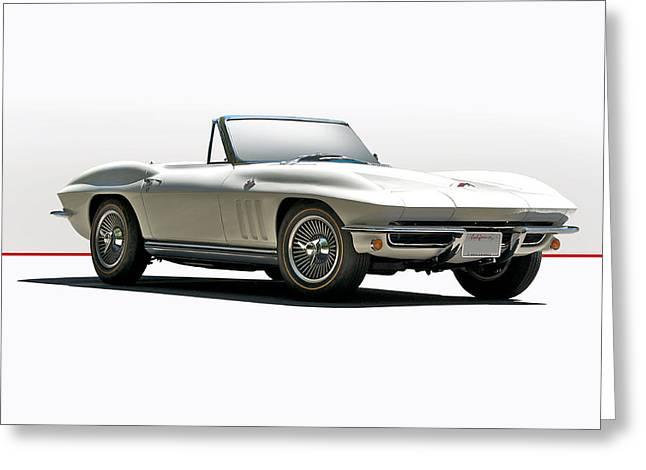 1966 Corvette In Studio Setting Greeting Card by Dave Koontz