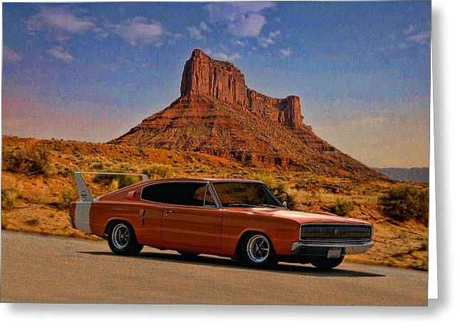 1966 Dodge Charger 500 Greeting Card