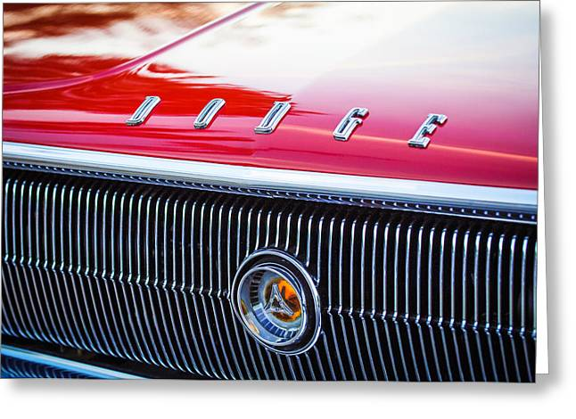 1966 Dodge Charger Grille Emblem Greeting Card by Jill Reger