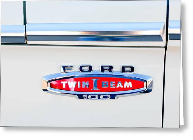 1966 Ford F100 Emblem Greeting Card by Jill Reger