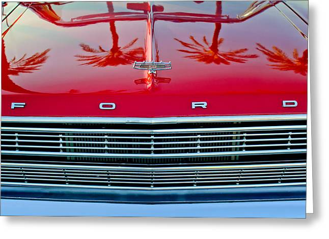 1966 Ford Galaxie 500 Convertible Grille Greeting Card by Jill Reger