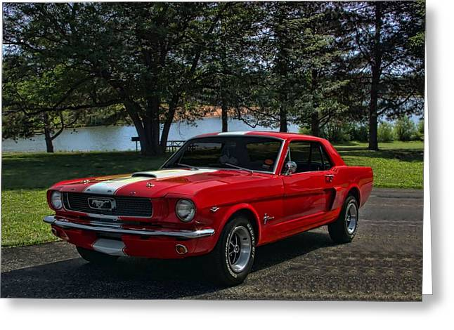 1966 Ford Mustang Greeting Card