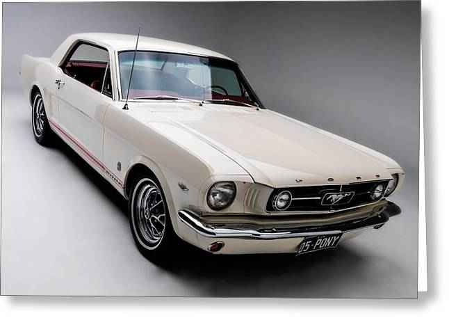 Greeting Card featuring the photograph 1966 Gt Mustang by Gianfranco Weiss