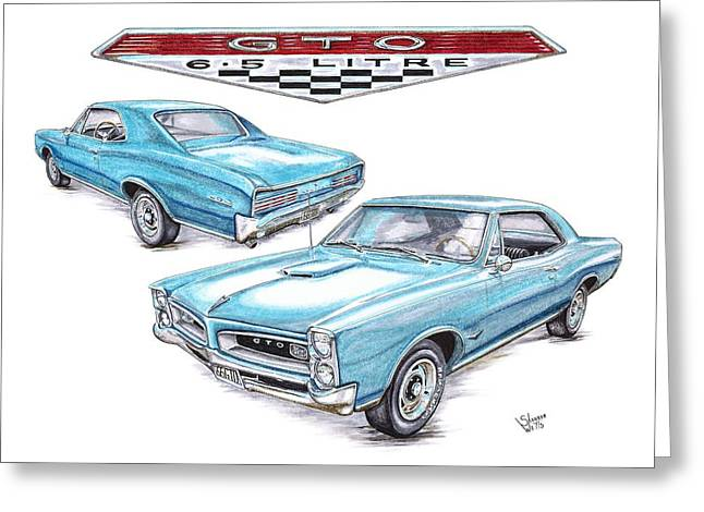 1966 Gto Greeting Card by Shannon Watts