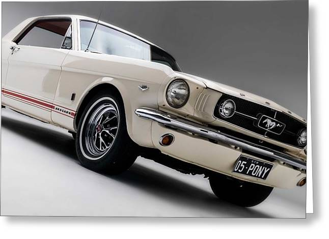 Greeting Card featuring the photograph 1966 Mustang Gt by Gianfranco Weiss
